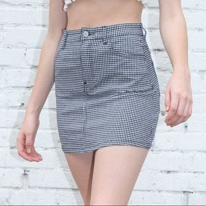 Brandy Melville checkered Juliette skirt